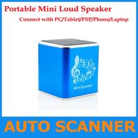 Wholesale Portable Mini MP3 music player, mini loud speaker with FM Radio for MP3,PC,TABLET, PSP, Laptop,Computer free ship