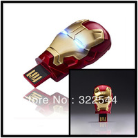 High Quality Hot selling 8GB  Iron Man USB Flash Drives 8GB USB Flash Memory stick Free Shipping