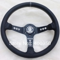 Sparco Steering Wheel Leather / Sparco Real Leather Steering Wheel / Sparco Racing Auto Steering Wheel