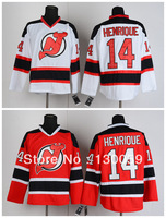 Free Shpping 2013 New Ice Hockey Jerseys Cheap Men's New Jersey Devils #14 Adam Henrique Jersey,Embroidery Logos,Mix Order