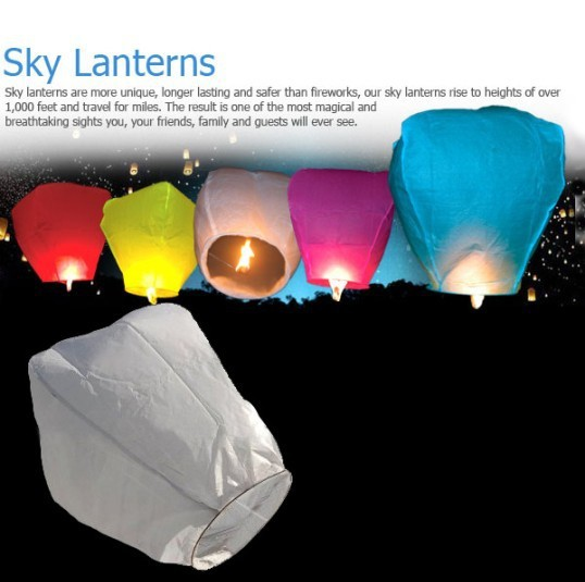 BEST SELLING!! 30pcs/lot colors with picture Sky Lanterns Wishing Lamp SKY for BIRTHDAY WEDDING Party free ahipping(China (Mainland))