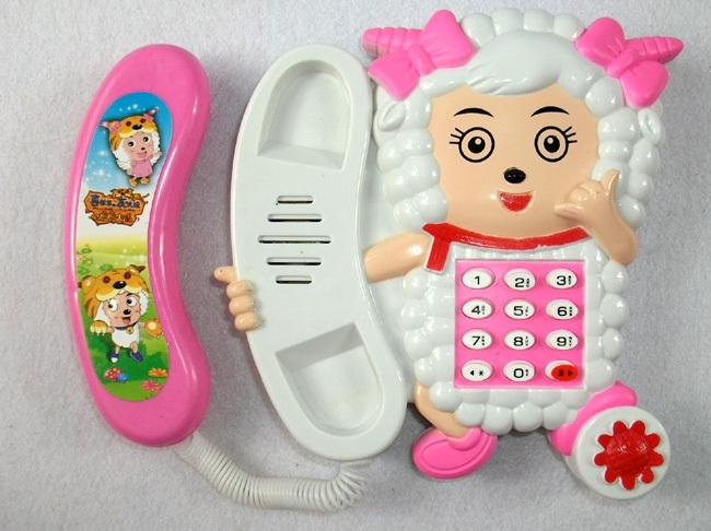 Free Shipping Female goat telephone phone piano music piano electronic piano toy telephone educational toys(China (Mainland))