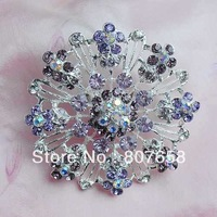 Light Purple Rose Crystal Rhinestone Swirl Leaf Autumn Fall Pin Brooch free shipping, item no.:  BH7465-PURPLE