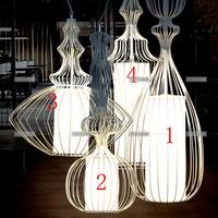T modern brief large nobility pendant light wrought iron bird cage pendant light pendant light restaurant lamp