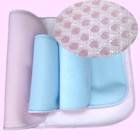 2 pcs Bamboo fiber high flexible waterproof antibiosis anti-wrinkle baby waterproof pad 50*70