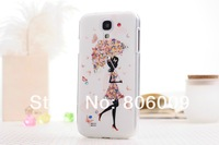 PC hard Case Cover with Diamond For Samsung Galaxy SIIII S4 i9500, DHL/EMS Free Shipping 200pcs/lot