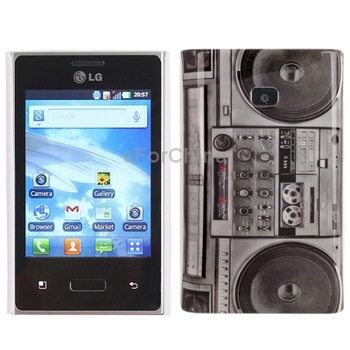 Radio Pattern Plastic Case for LG E400/ Optimus L3, Good Protector for your Cell Phone