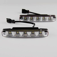 New 2 x 5 LED Car DRL Al-alloy shell High Power Driving Daytime Running Day Light