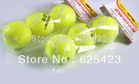 Free Shipping! 3 Pcs Good Quality Promotional Ruber Tennis Ball / Felt Exterior Tennis Ball / PU Squeeze Ball Anti-stress Ball