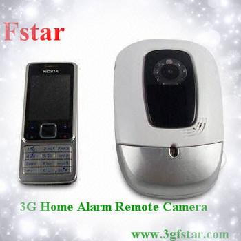 3G gsm wireless remote control home security alarm camera