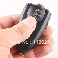 100 Piece one lot Keychain Digital Breathalyzer Alcohol Analyzer Breath Tester LED Flashligh Key chain Black Free Shipping
