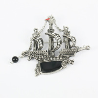 Lead and Nickel Free Wholesale New Products for 2013 Brooch Pins Sailing Ship Design Items No. P00111. Free Shipping!!!