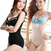 Womens Underbust Tummy Control Body Shaper Slimming Shapewear Bodysuit Corset 2 Colors M-XXL