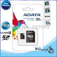 100PCS/lot Adata 32GB (real 2gb capacity)Class 10 Micro SDHC SD Flash TF Memory Card + SD Adapter in Original Retail Package