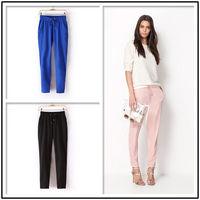 4 Colors New Womens European Fashion Spring Season Cotton Harem Pants B