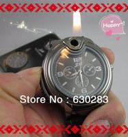 Cigarette Butane Lighter silver golden men's quartz wrist watch lighter Dropshipping Hot Watch Style Lighter MultifunctionWatch