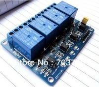 microcontroller development board 4 road relay extension board Support the AVR/ 51 / PIC