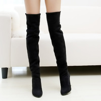 botas boot women femininas autumn and winter boots over-the-knee 25pt high-heeled boots with a single brief leg mujeres feminina