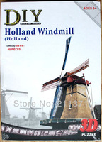 3D jigsaw puzzle Kids Development Toy building Holland Windmill Brithday Gift