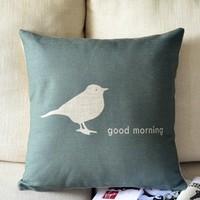 Cute Birds Sparrow Printed Pillow Cover Decor Free Shipping Wholesale