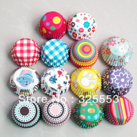 2013 gift 600pcs assorted mini size chocolate cup cake cup cupcake liners baking cup muffin holder paper cake cup bakery tool