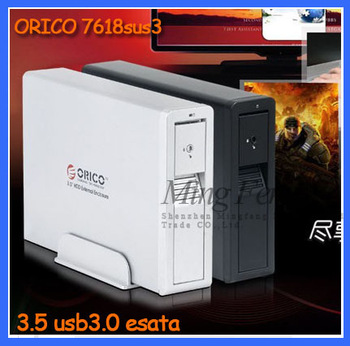 Hot sale  Orico 7618sus3 usb3.0 esata dual high speed tool 3tb mobile hard drive box
