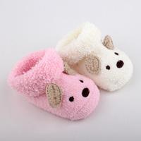 (2pairs/lot)Free shipping Circle velvet soft newborn baby shoe socks handmade cartoon style baby socks