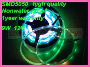 DHL/Fedex Free shipping Wholesale 5M SMD5050 Side emitting LED Strip ws2801 Waterproof light 36LEDs/m DC12V(China (Mainland))