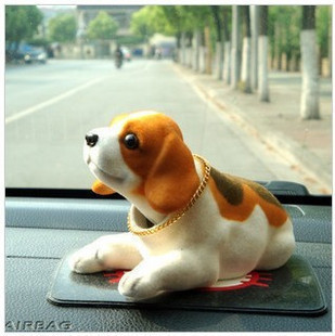 Free shipping swing dog for car interior decorative lovely and lucky car Ornaments