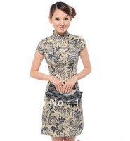 New Fashion Women Top 2013 The Chinese Dress Women Top Dress Elegant Porcelain Cheongsam Printing Two Piece Suit Qipao