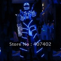 60-male Blue Luminous clothing,Robot sets