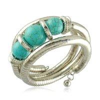 Bead Bangles New Arrival Turquoise Beads Bracelet/Fashion Jewelry weave twist snake shape bangle  for woman Free Shipping SZ013