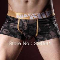 Free Shipping Silky milk silk U convex mid-waist men's underwear men boxer shorts