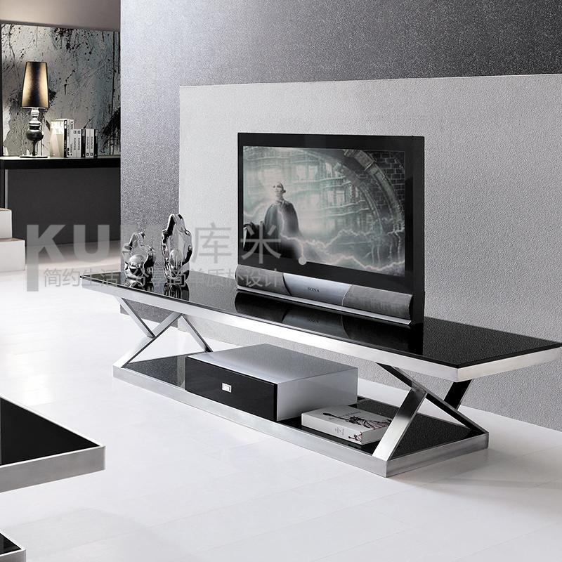 metalen meubelen minimalistische fashion tv kast verf gehard glas tv ...