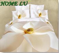 Oil painting Duvet/quilt cover king queen 3d bedding set 4PCS  big flower bedclothes bed linen bedcover (HKY252)