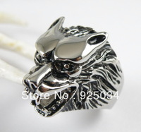 Solid Stainless steel Casting Wolf Jewelry Rings
