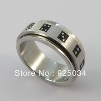 316L  Stainless steel  Dice Rotate Spinning Rings,$35.99/36pcs