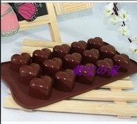 15 heart silica gel valentine's day chocolate jelly pudding mold diy handmade soap