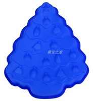 Single hole Large silica gel christmas tree cake mould belt bell heatresisting fda