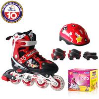 Skating shoes child set skating shoes full set adjustable skate shoes kneepad female