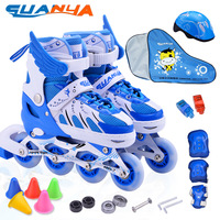 City guanya child skating shoes skating shoes inline skating roller skates adjustable set