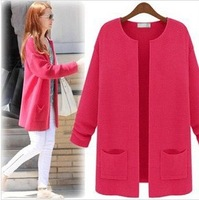 2013 autumn winter new Korean version of simple wild sweater thin coat in spring and autumn long knitted cardigan