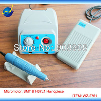 110V / 220V S-SMT Brush Micromotor Laboratory, Jewelery, Hobby, Nail File Hand Grinder Power Engine & SDE-H37L1 Handpiece Set