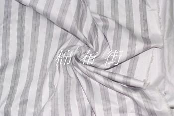 100% plain stripe cotton satin bedding  piece set   fabric