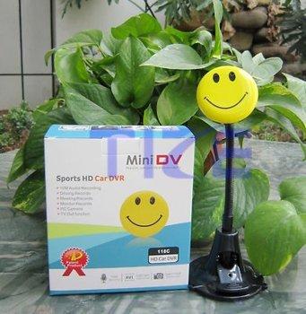 New 1 pcs Smile Face Mini DV HD Hidden Camera Video DVR 1280 X 960, Retail Box+Free Shipping+Drop Shipping
