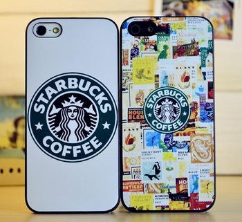 10pcs/lot free shipping Starbucks coffee phone case for apple iphone 5 5s protective case cover,Frosted shell for iphone5