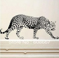 Free shipping New Wall sticker Cheetah Leopard JaguarCat 510mm-1180mmWall Mural Vinyl Decal Home Decor  Art Wall decor VinylB-55