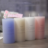 Free shipping 5*5cm Classic column wax Perfume fragrance Rommantic wedding candles Birthday candles Valentine's day Candles