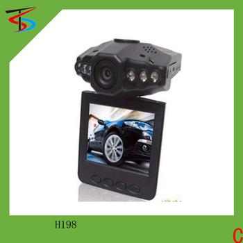 "Wholesale 100% Original HD Car DVR Driving Dashboard Camera Audio Video Recorder 6 IR led Night Vision Black box 2.5"" LCD H198"