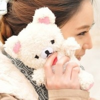 Free shipping Cute Teddy Bear Doll Toy Plush Case Cover For Apple iPhone 4 / 4S /iPhone5/5S Mobile Smart Phones